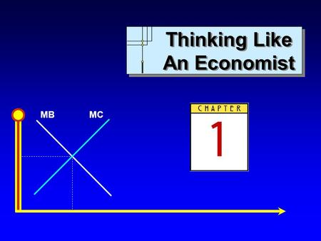 MBMC Thinking Like An Economist. MBMC Copyright c 2007 by The McGraw-Hill Companies, Inc. All rights reserved. Chapter 1: Thinking Like an Economist Slide.