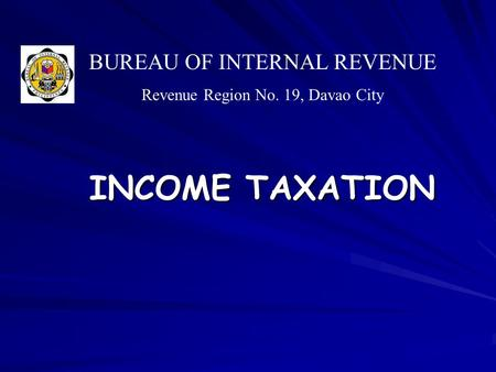 Income tax presented by lilybeth a ganer cpa mba for Bureau internal revenue
