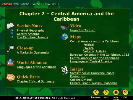 Central America Chapter Ppt Video Online Download - West indies central america 1763