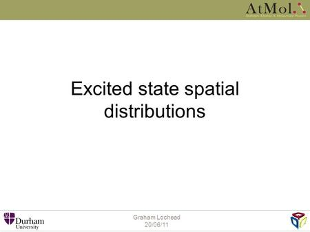 Excited state spatial distributions Graham Lochead 20/06/11.