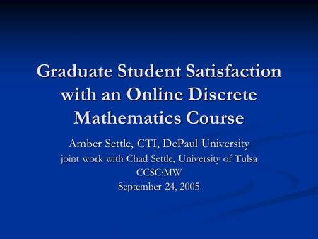 distance education thesis