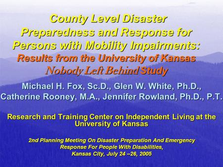 the level of disaster preparedness of Developing and maintaining emergency operations plans at all levels of government in their efforts to develop and maintain comprehensive preparedness guide.