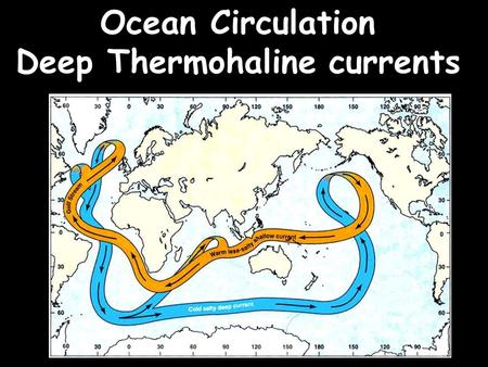 Deep Thermohaline currents