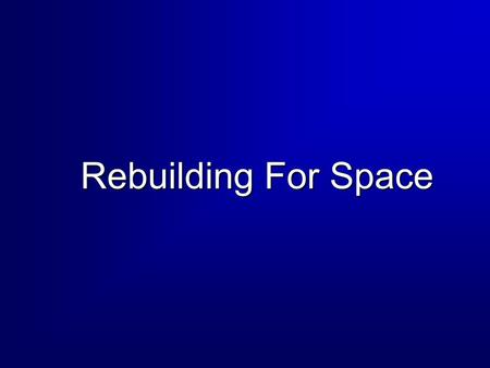 Rebuilding For Space. 2 Overview  Rise of the Phoenix: From Vietnam to the Gulf War  Exploitation of Space  Military Operations in the 80s Grenada.