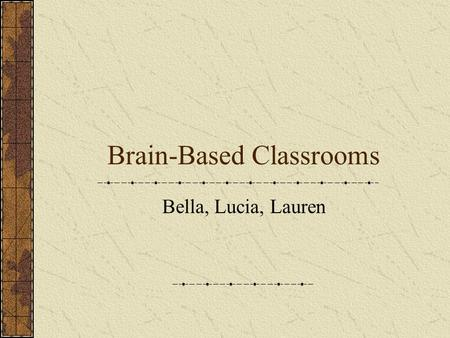 "Brain-Based Classrooms Bella, Lucia, Lauren What did zero say to eight? 0 8 ""I like your belt!"""