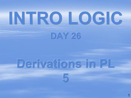 1. 2 6 derivations in Predicate Logic 15 points each, plus 10 free points 1.universal derivation[Exercise Set C] 2.existential-out[Exercise Set D] 3.negation.