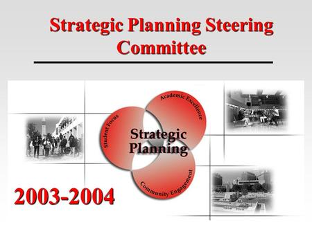Strategic Planning Steering Committee 2003-2004. Where Are We Now? UNO has been involved in strategic planning since its doors opened in 1907. Chancellor.