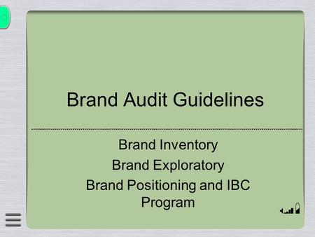 Brand Audit Guidelines