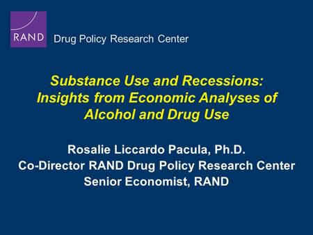 a comparison between drug policy as