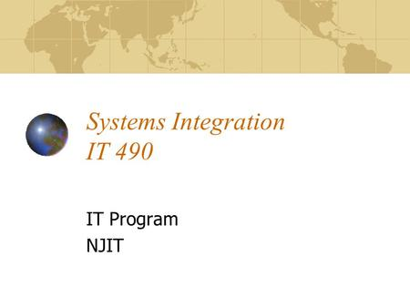 Systems Integration IT 490
