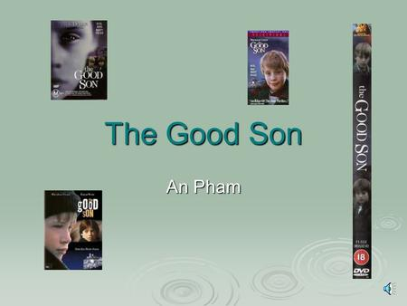 The Good Son An Pham Introduction to the Movie Elijah Wood plays Mark, who's mother just has died and his father left for two weeks on a business trip.