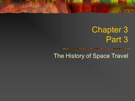 Chapter 3 Part 3 The History of Space Travel. Skylab America's first space station, Skylab, was launched in May 1973 by a Saturn V rocket in the compartment.