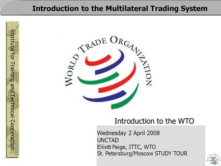 Introduction of multilateral trading system