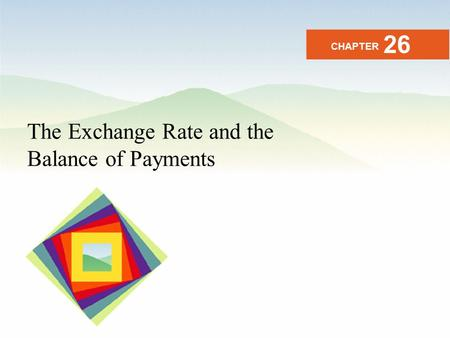 26 CHAPTER The Exchange Rate and the Balance of Payments.