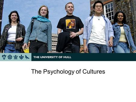 The Psychology of Cultures Ting Chen Immigration & Cultural Adviser International Office.