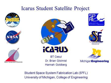 Icarus Student Satellite Project