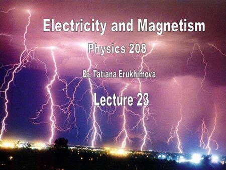 The Magnetic Field The force on a charge q moving with a velocity The magnitude of the force.