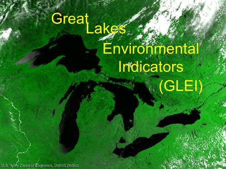 Great Environmental Indicators (GLEI) Lakes.