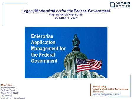 Legacy Modernization for the Federal Government