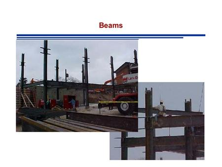 Beams. BEAMS A structural member loaded in the transverse direction to the longitudinal axis. Internal Forces: Bending Moments and Shear.
