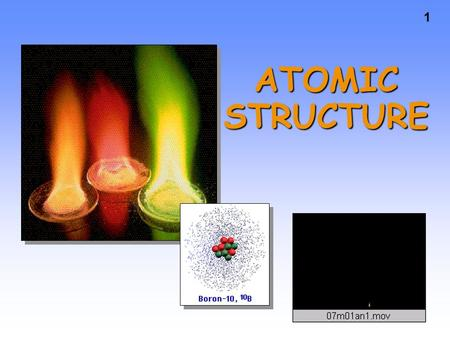 1 ATOMIC STRUCTURE. 2 Chapter 7 Excited Gases & Atomic Structure.