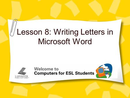 Lesson 8: Writing Letters in Microsoft Word. 2 Concept 8.1 Microsoft Word Word is the most frequently used word processing program in the world Word does.