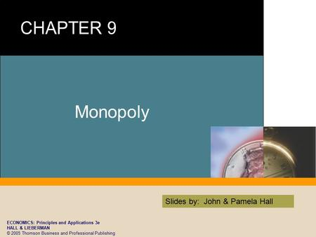 ECONOMICS: Principles and Applications 3e HALL & LIEBERMAN © 2005 Thomson Business and Professional Publishing Slides by: John & Pamela Hall Monopoly.