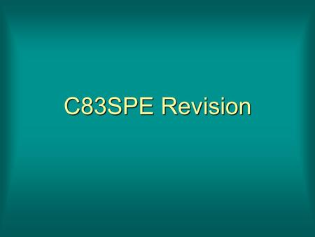 C83SPE Revision. Theory of Planned Behaviour Expectancy-value Models of Attitudes and Subjective Norms Behavioural beliefs Salient referents Good companionship.