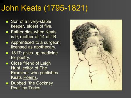 essays on keats 1 'keats delighted in the ways in which beauty, in both natural and human forms, revealed the truth about life' to what extent can you agree with this comment about keats.