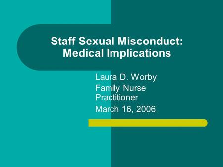 Campus Sexual Assault: Suggested Policies and Procedures