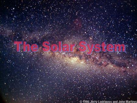 1. L ist the 9 planets in our solar system. Mercury Venus Earth Mars Jupiter Saturn Uranus Neptune Pluto (dwarf planet)