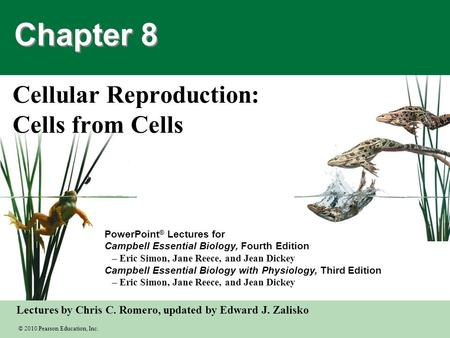 Cellular Reproduction: Cells from Cells