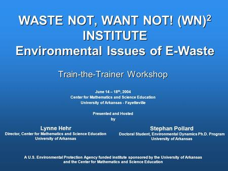 Electronic waste an environmental crisis essay