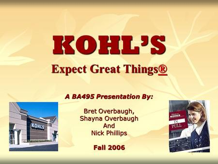 KOHL'S Expect Great Things®