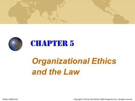 Organizational Ethics and the Law
