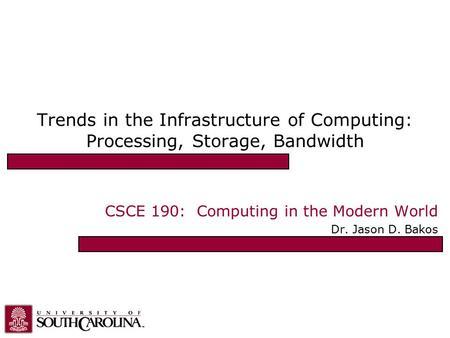 Computing in the modern world