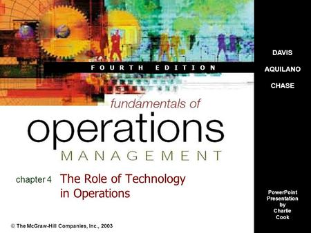 The Role of Technology in Operations
