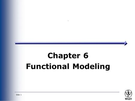 Chapter 6 Functional Modeling