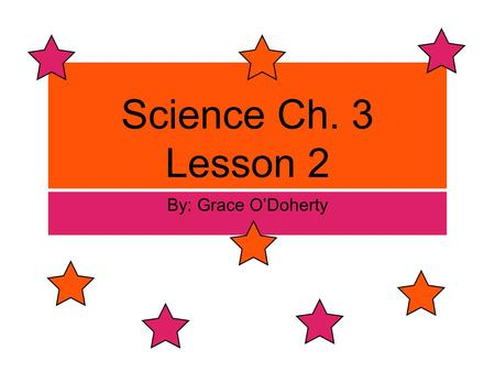 Science Ch. 3 Lesson 2 By: Grace O'Doherty. Change of State change of state is the conversions of a substance from one state to another.