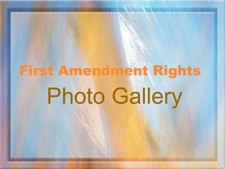"First Amendment Rights Photo Gallery. The next photos are good examples to illustrate ""Truth"" and ""Falsehood"" grappling in public:"