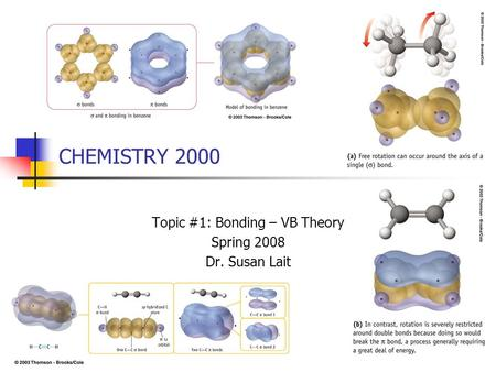 CHEMISTRY 2000 Topic #1: Bonding – VB Theory Spring 2008 Dr. Susan Lait.