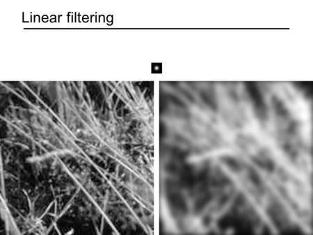 Linear filtering. Motivation: Image denoising How can we reduce noise in a photograph?