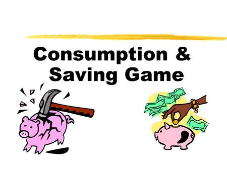consumption and saving relationship