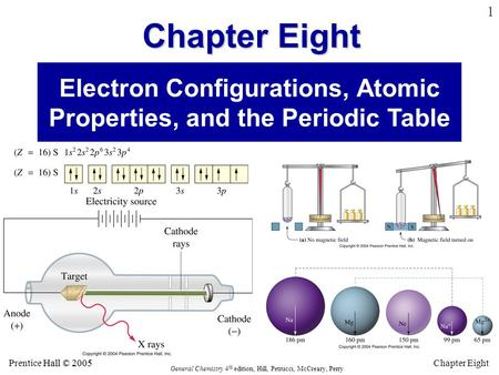 Electron Configurations, Atomic Properties, and the Periodic Table