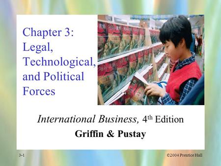 Chapter 3: Legal, Technological, and Political Forces