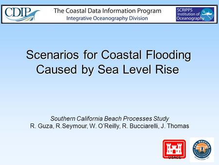 Scenarios for Coastal Flooding Caused by Sea Level Rise