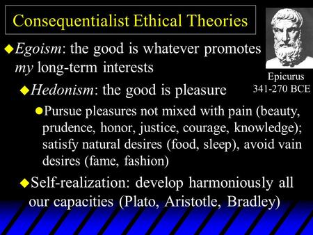 ethical theories paper consequentialist theory How do you distinguish between a consequentialist and non consequentialist vs non-consequentialist theories of ethics theory -- consequentialist theories.