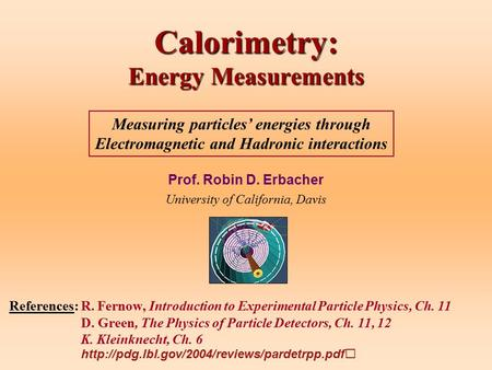 Calorimetry: Energy Measurements