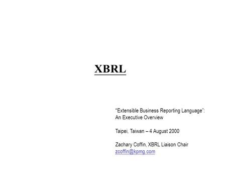 The Awareness of the Extensible Business Reporting Language (XBRL) In Malaysia