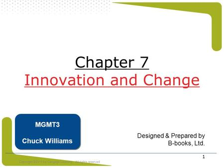 Chapter 7 Innovation and Change